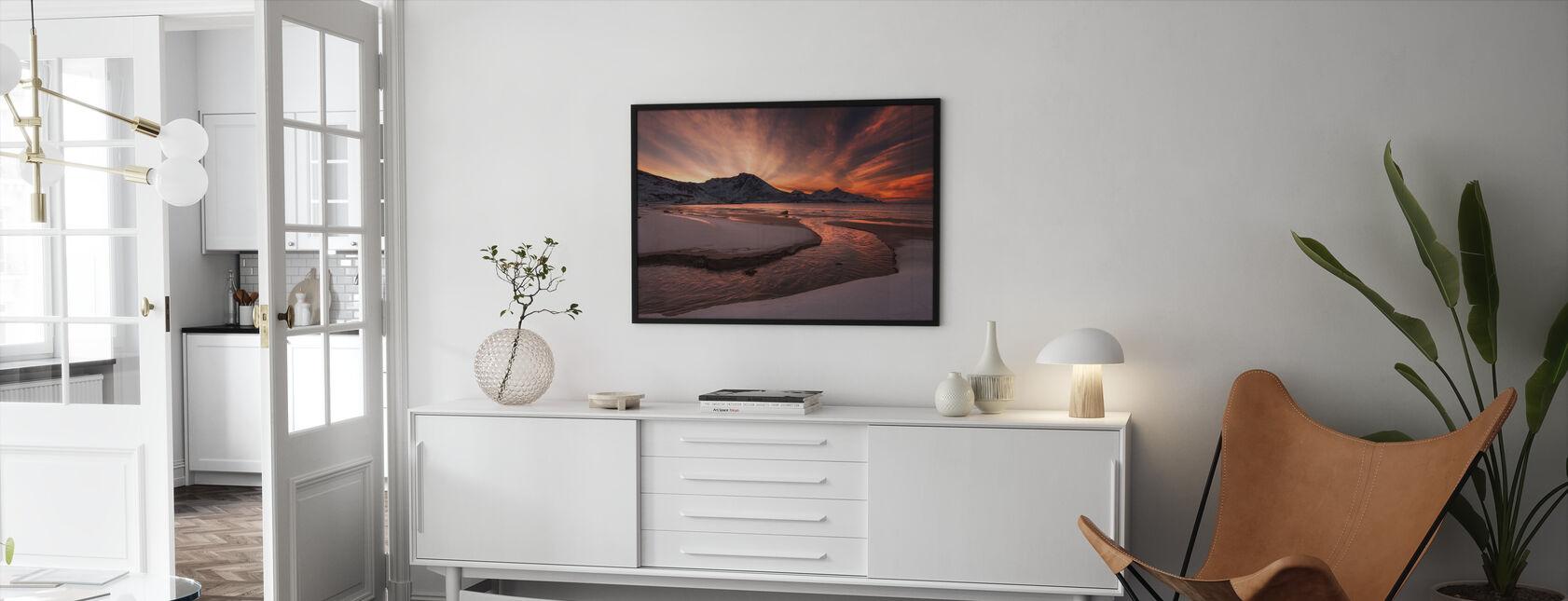 Golden Sunset i Norge - Innrammet bilde - Stue