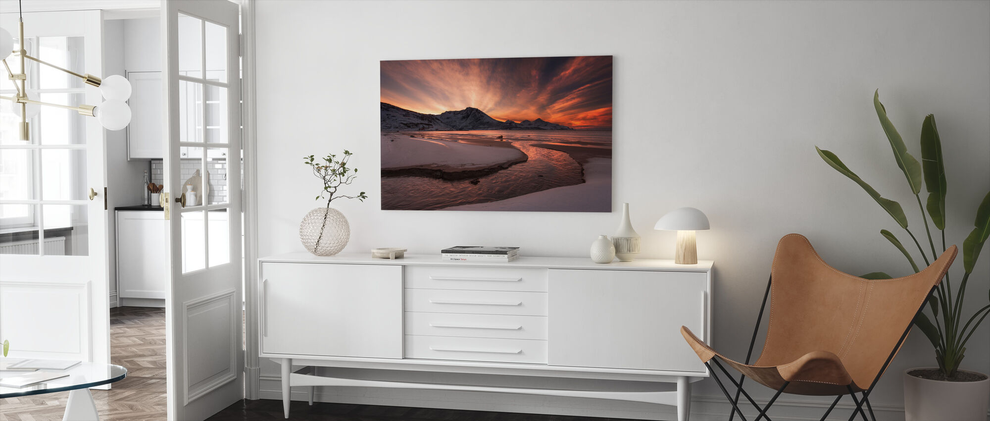Golden Sunset in Norway - Canvas print - Living Room