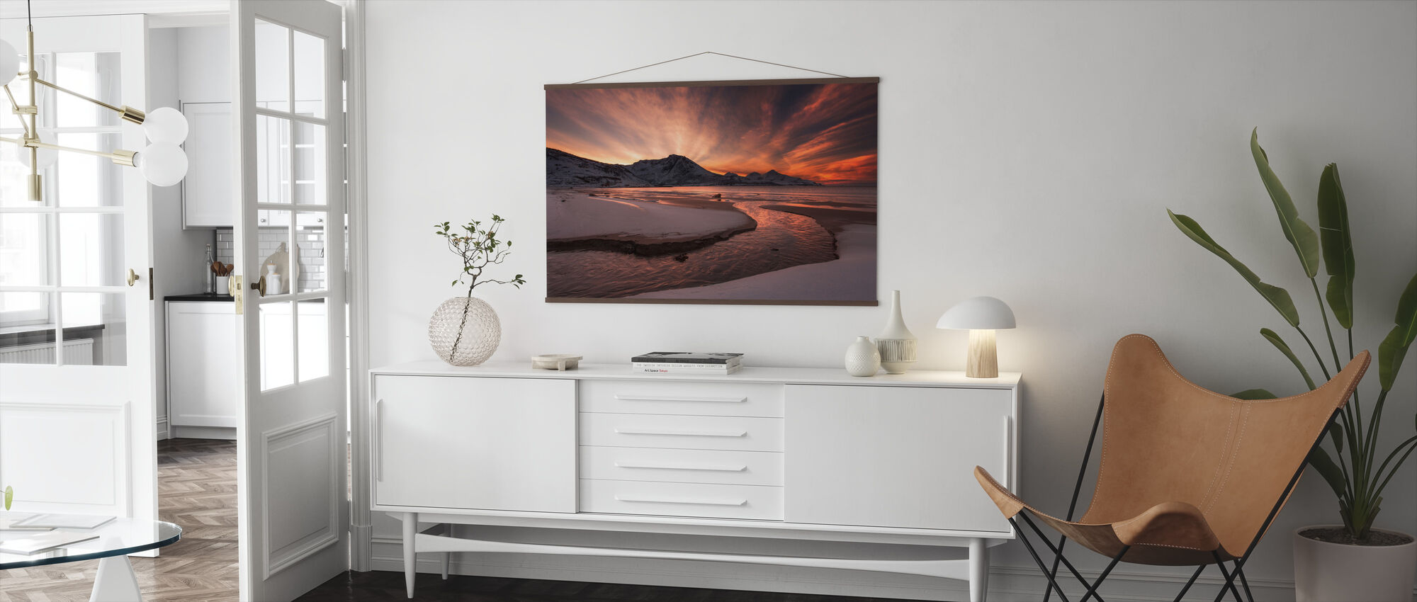 Golden Sunset in Norway - Poster - Living Room