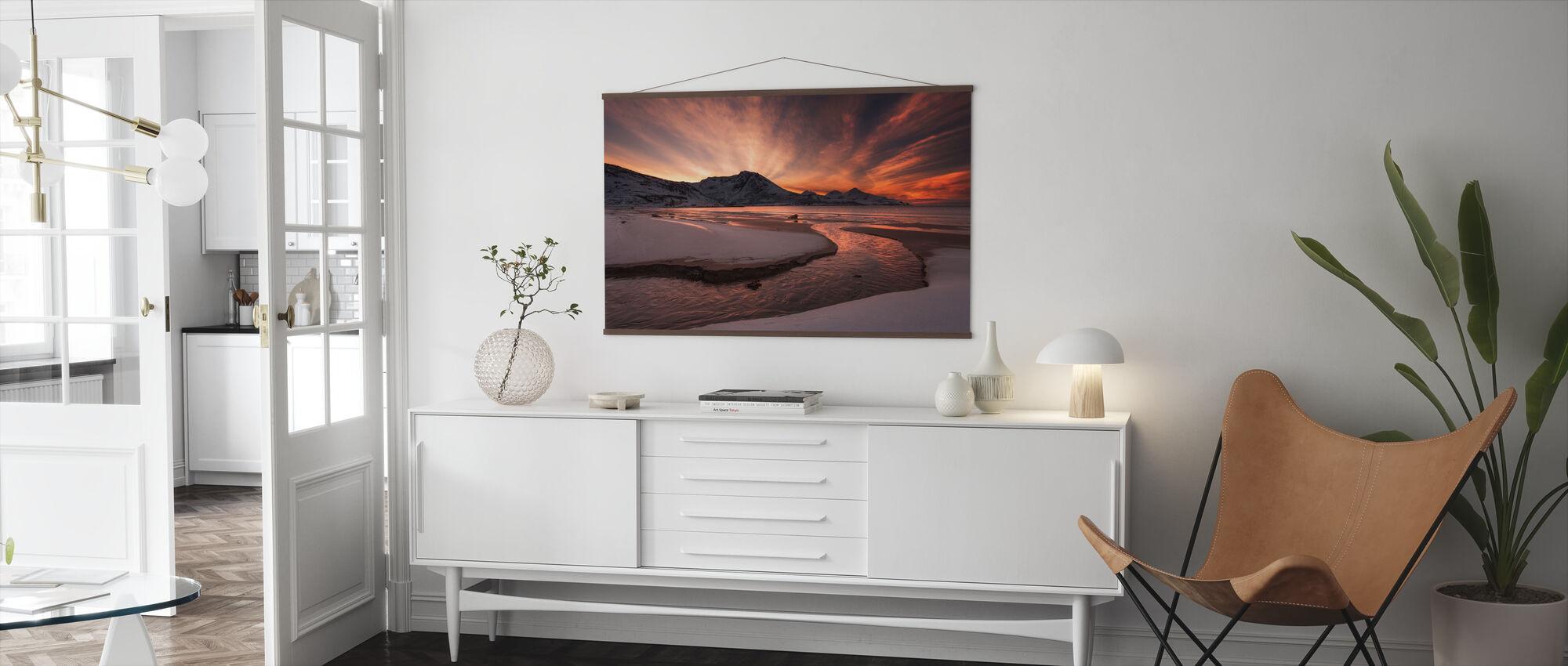 Golden Sunset i Norge - Plakat - Stue
