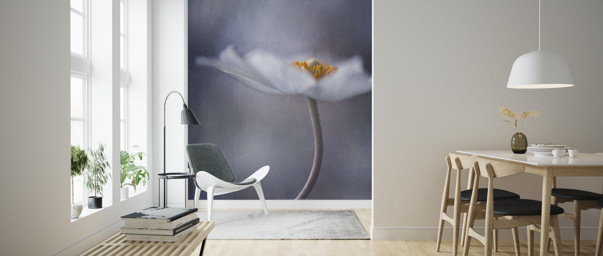 Valkoinen Anemone - Tapetti - Olohuone