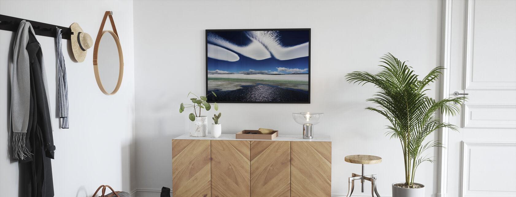 Islandske skyer - Indrammet billede - Entré