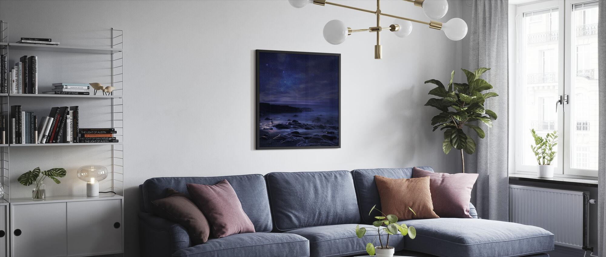 Purple Sky - Framed print - Living Room