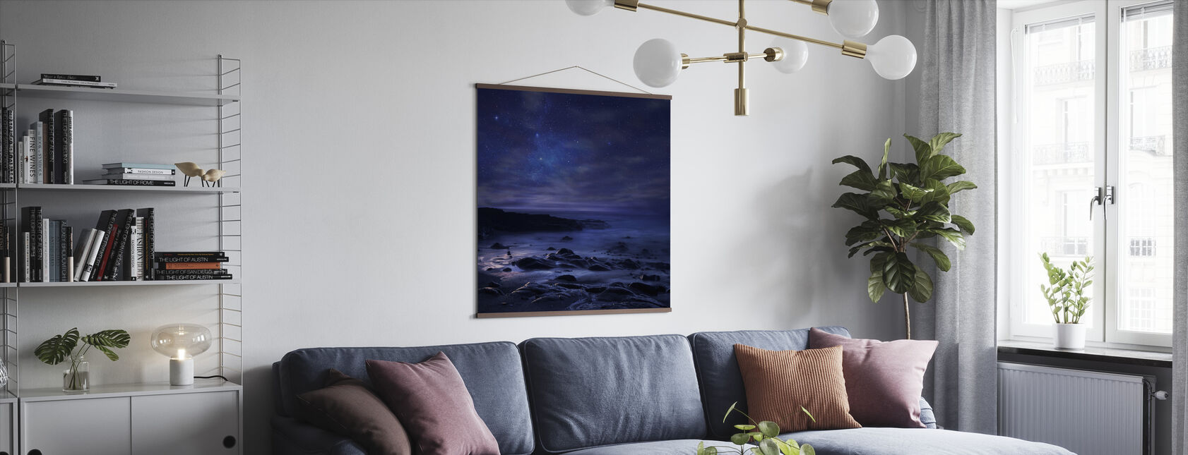 Purple Sky - Poster - Living Room