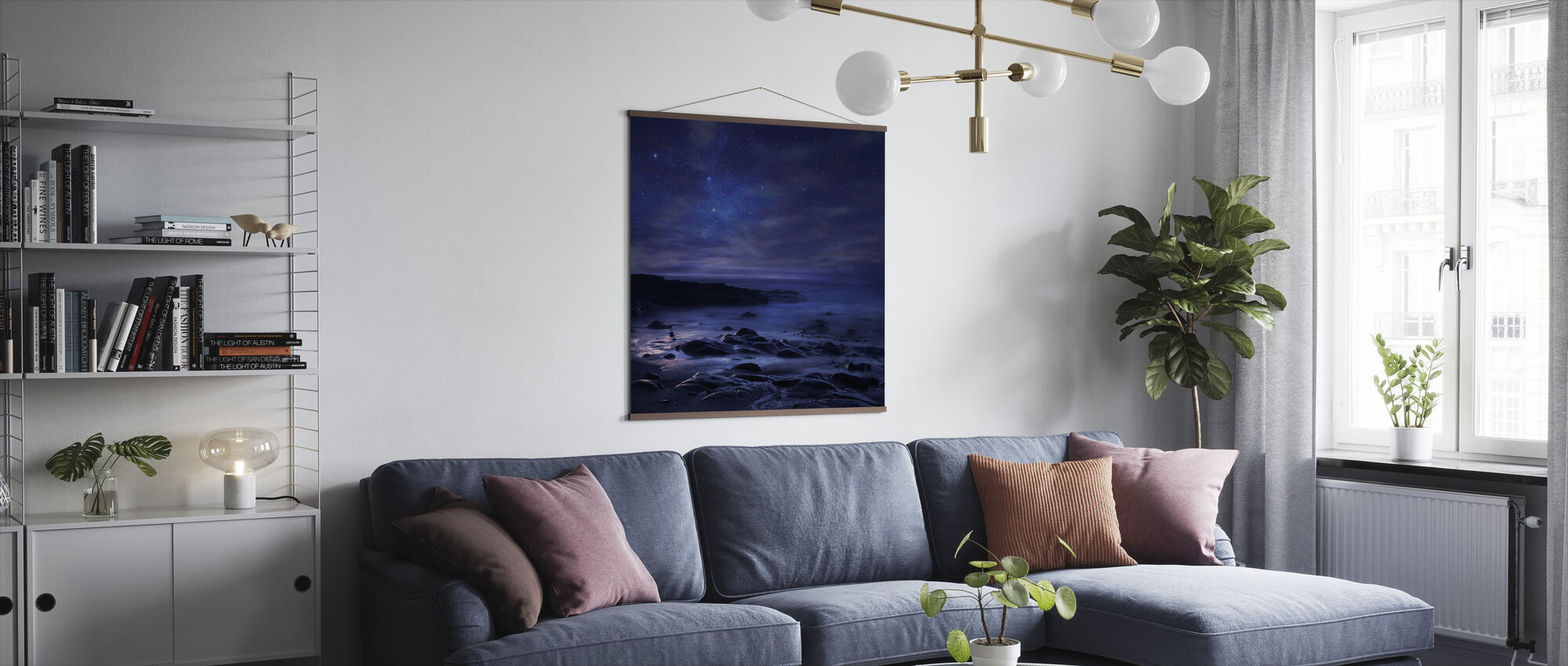 Purple Sky - Poster - Living Room
