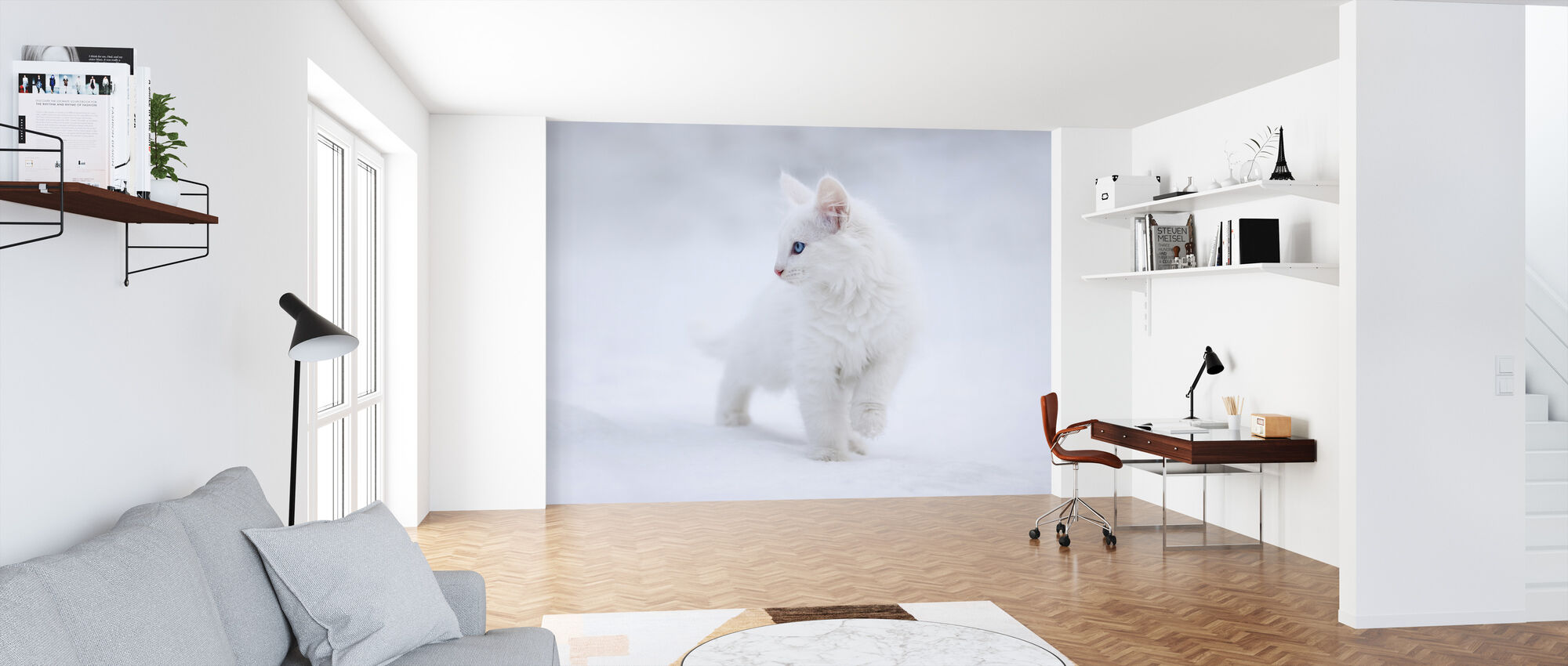White as Snow - Wallpaper - Office