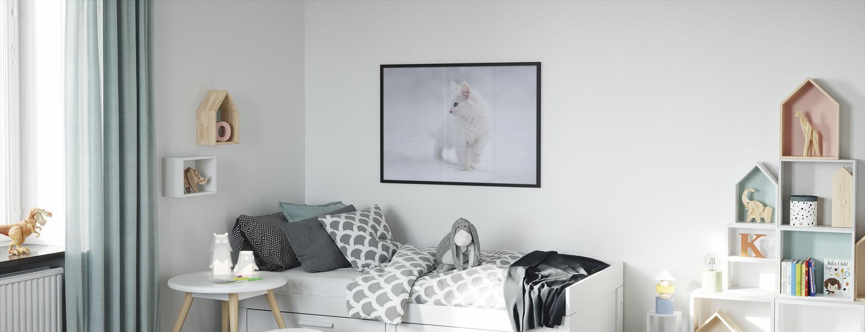 Valkoinen kuin lumi - Kehystetty kuva - Lastenhuone