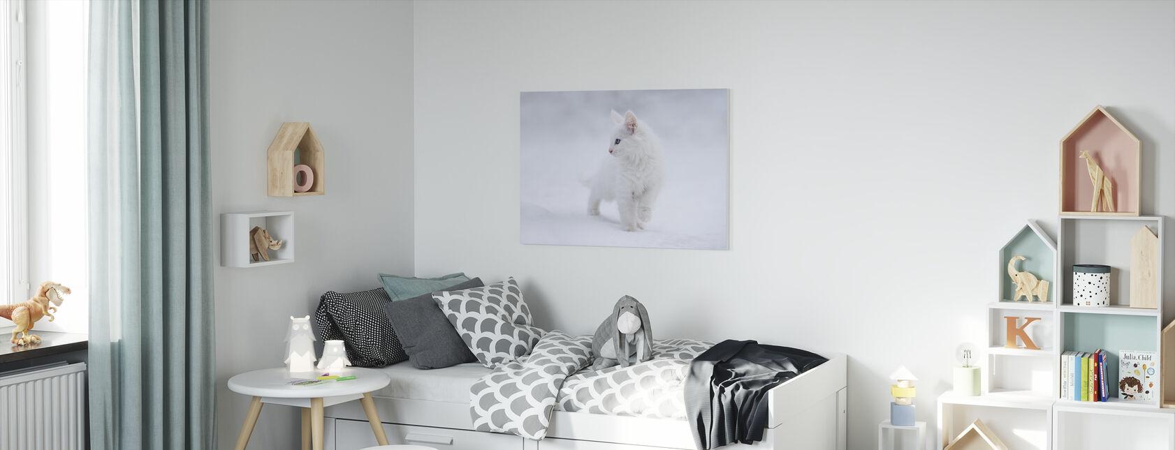 Valkoinen kuin lumi - Canvastaulu - Lastenhuone