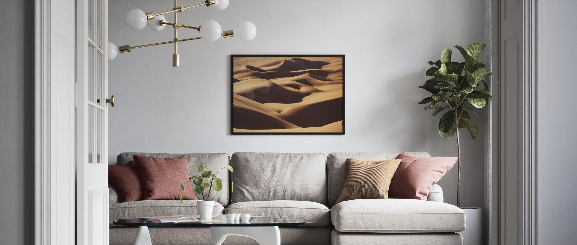 Hiekka Maisema - Kehystetty kuva - Olohuone