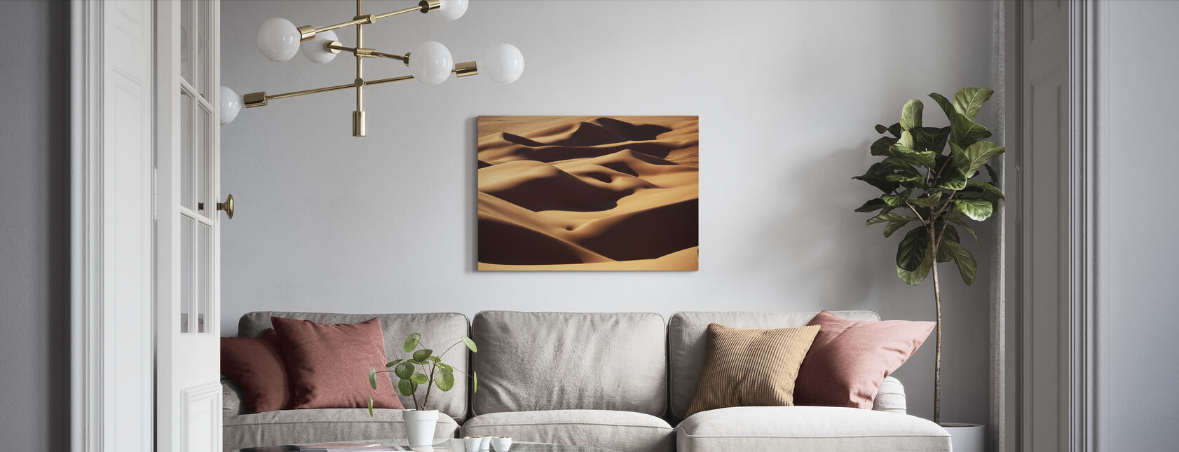 Sand Landskap - Lerretsbilde - Stue