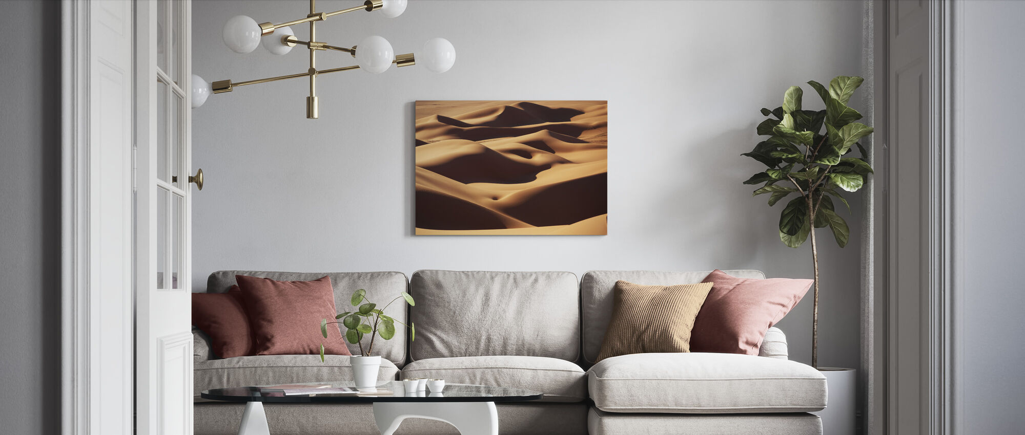 Sand Landscape - Canvas print - Living Room