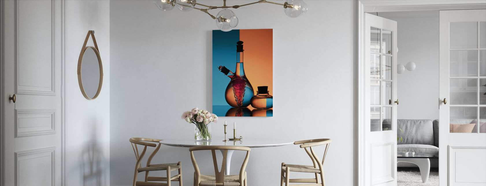 Olja & Vinäger - Canvastavla - Kök