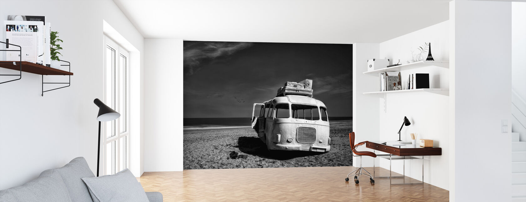 Beached Bus - Wallpaper - Office