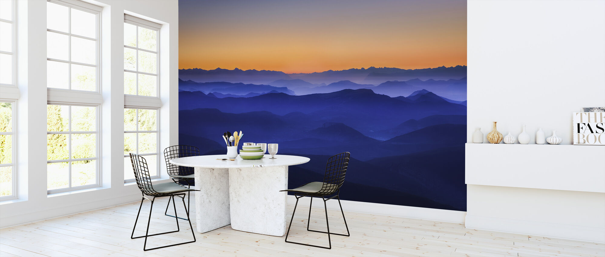 Misty Mountains - Wallpaper - Kitchen
