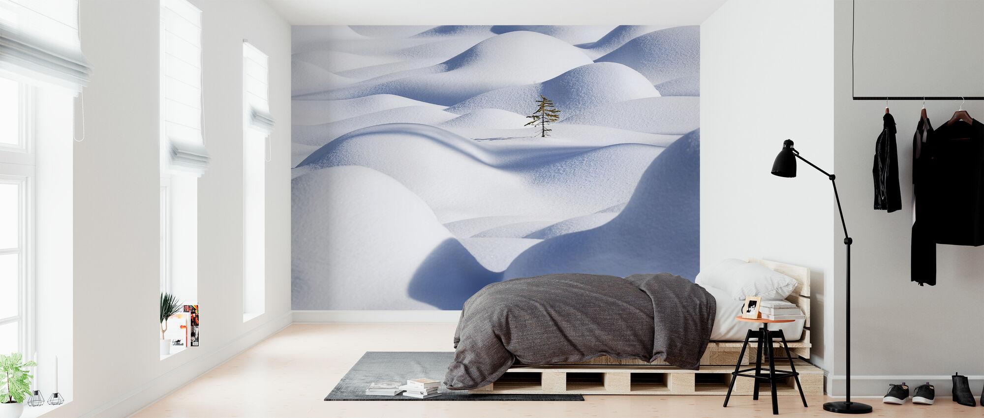 Snow Waves - Wallpaper - Bedroom