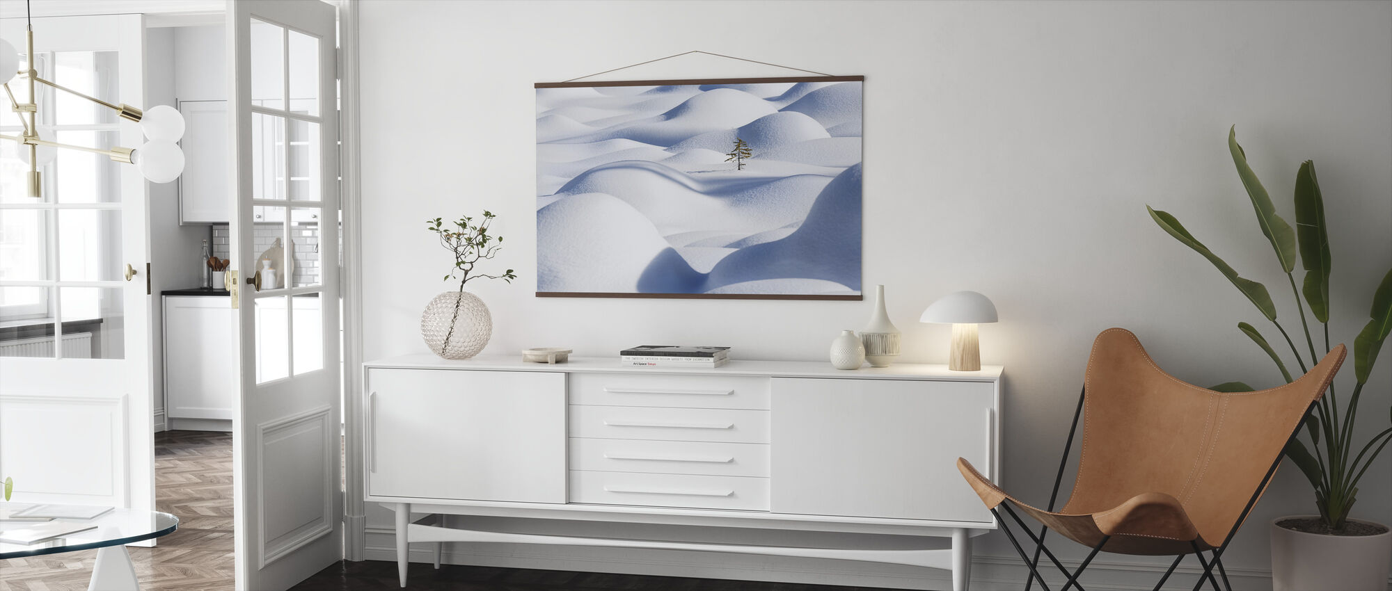 Snow Waves - Poster - Living Room
