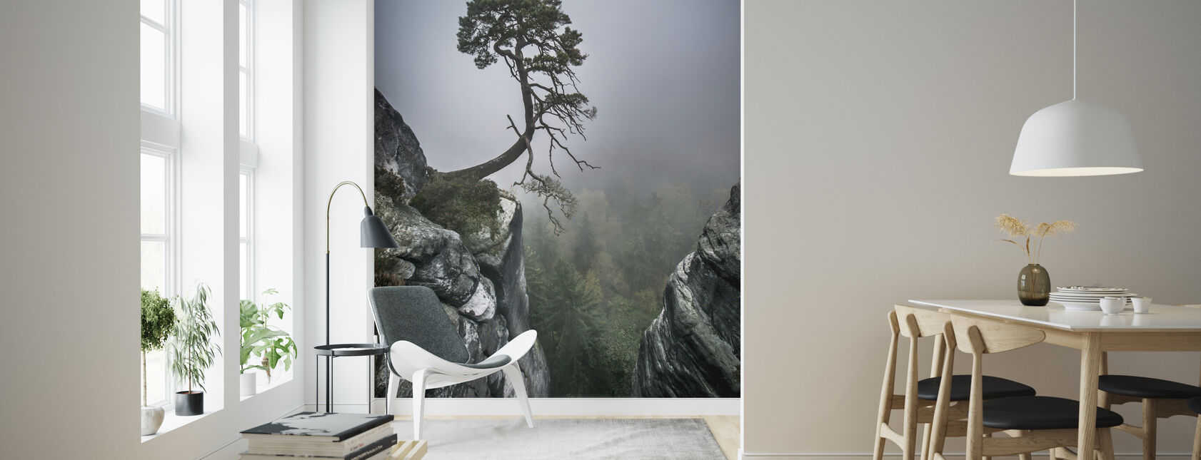 Tree on Mountain - Wallpaper - Living Room