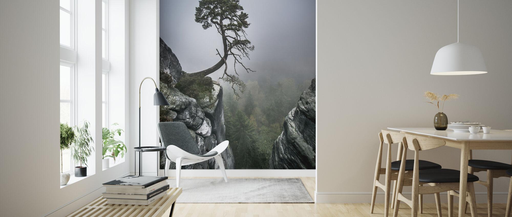 Tree on Mountain - Wallpaper - Living Room