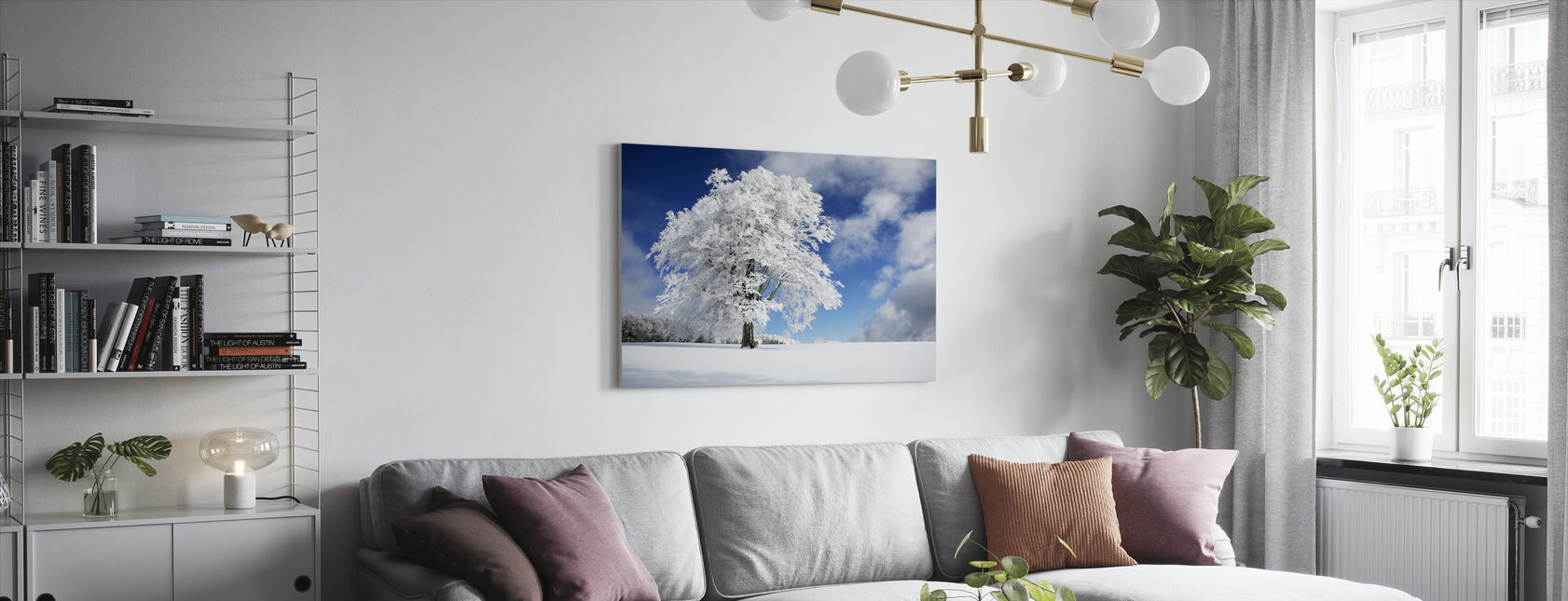 Winter Tree - Canvas print - Living Room