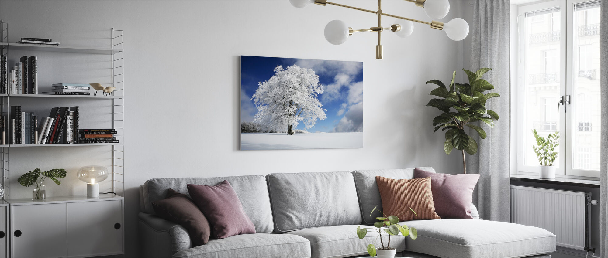 Winter Tree - Canvas print - Living Room