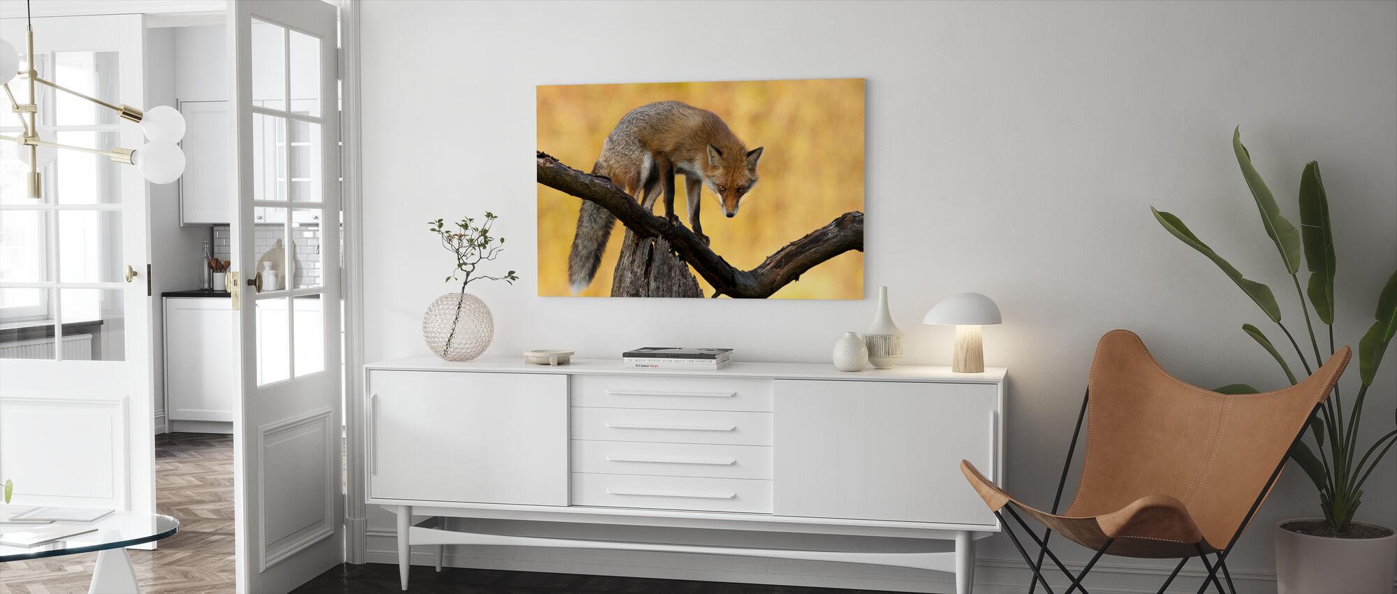 Fox with Blazing Eyes - Canvas print - Living Room
