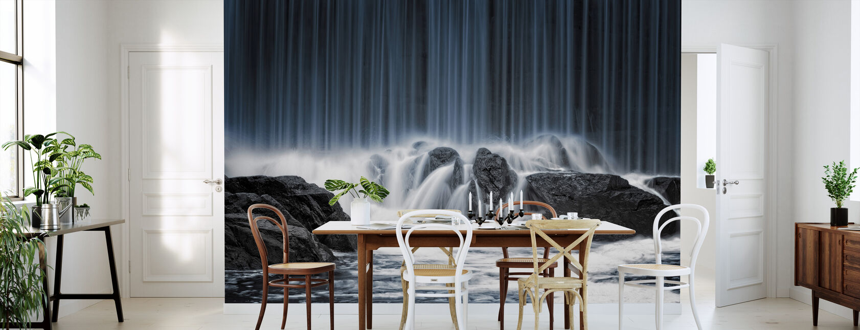 Water Curtain - Wallpaper - Kitchen