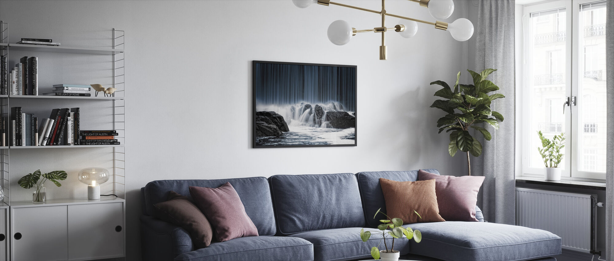Water Curtain - Framed print - Living Room