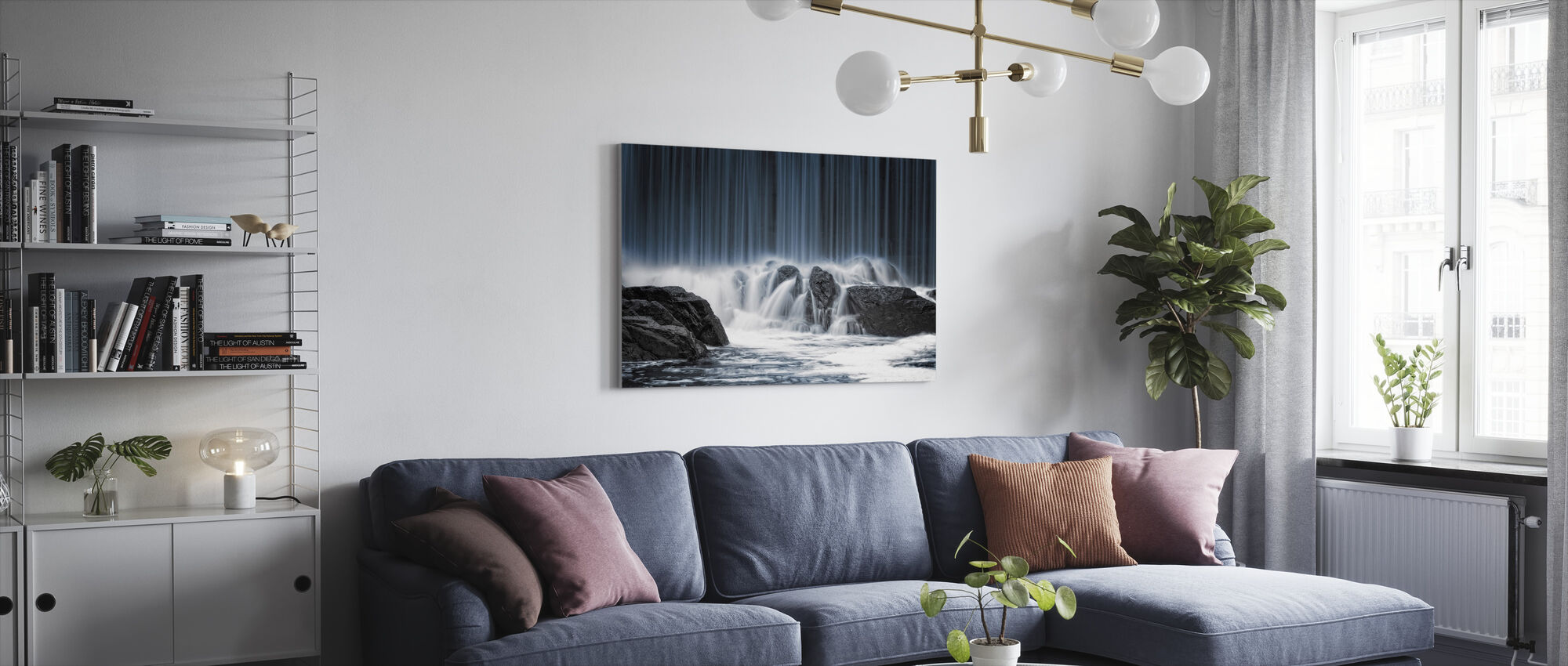 Water Curtain - Canvas print - Living Room