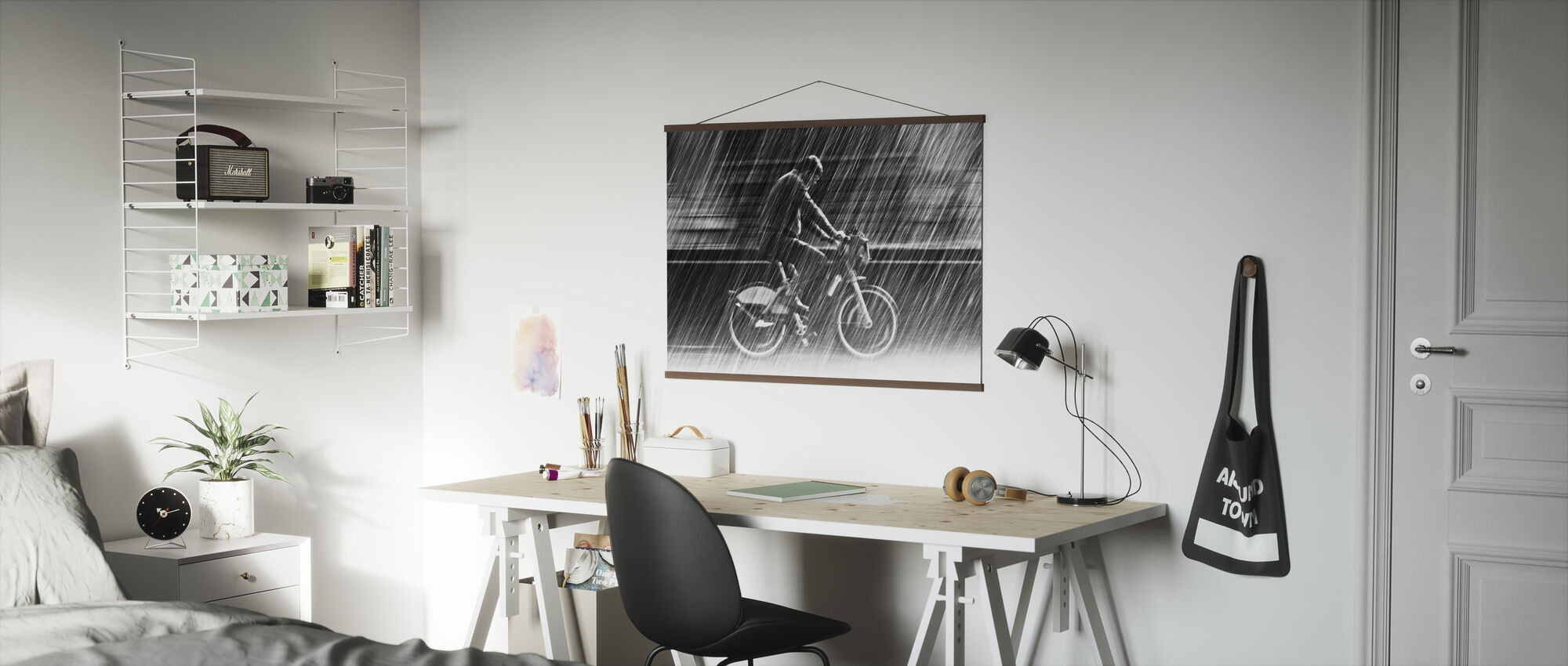 Bicycle in the Rain - Poster - Office