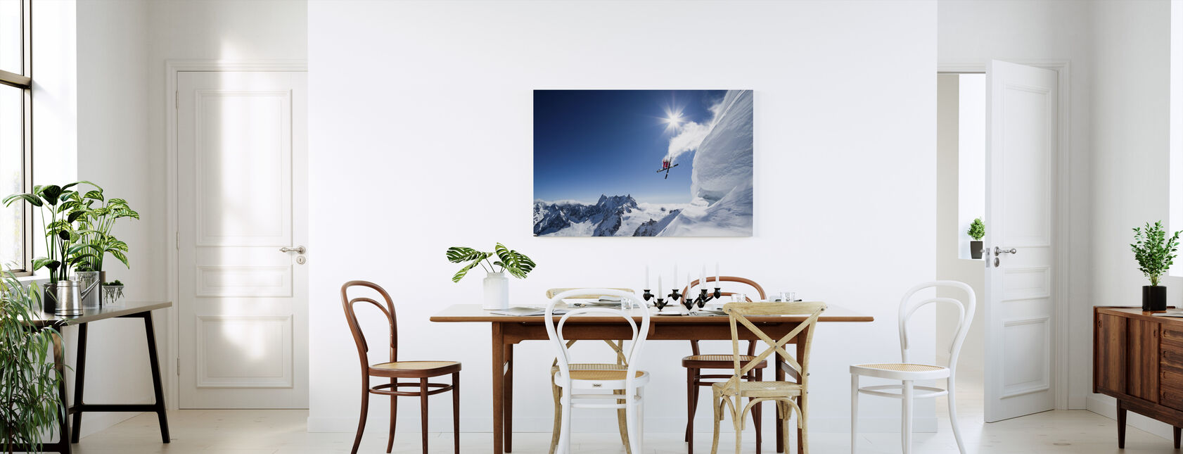 Extreme Skiing - Canvas print - Kitchen