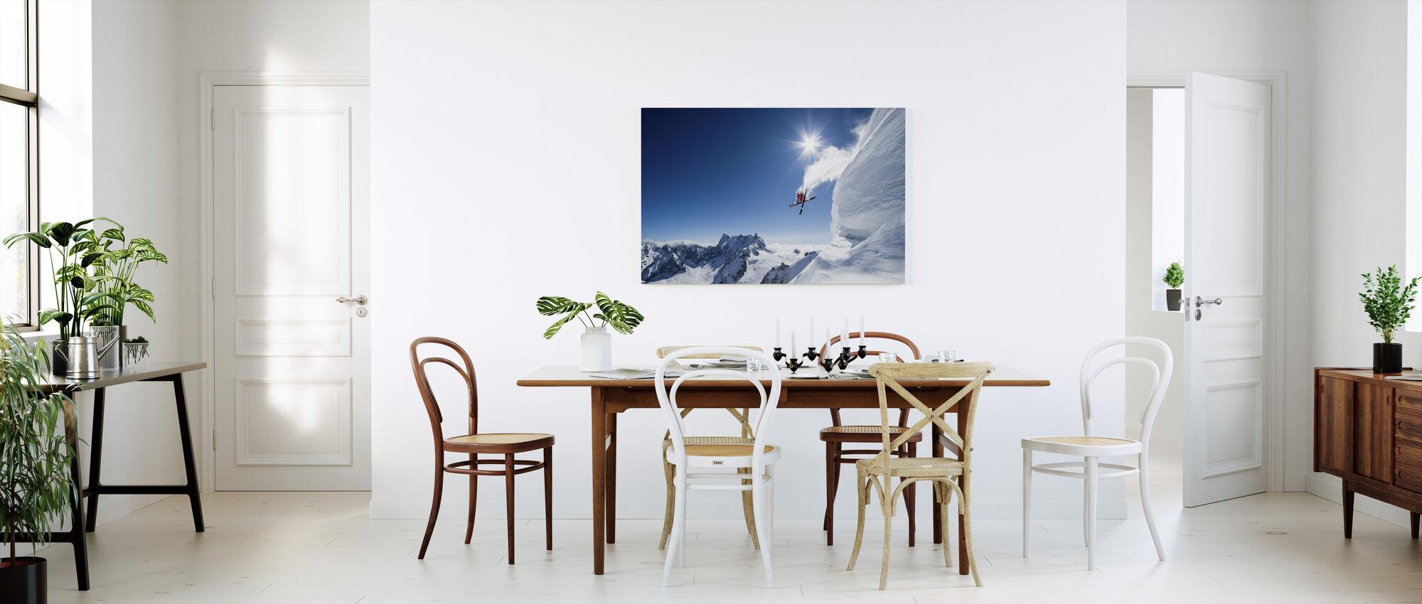 Extreme Skiing - Canvas print - Kitchen