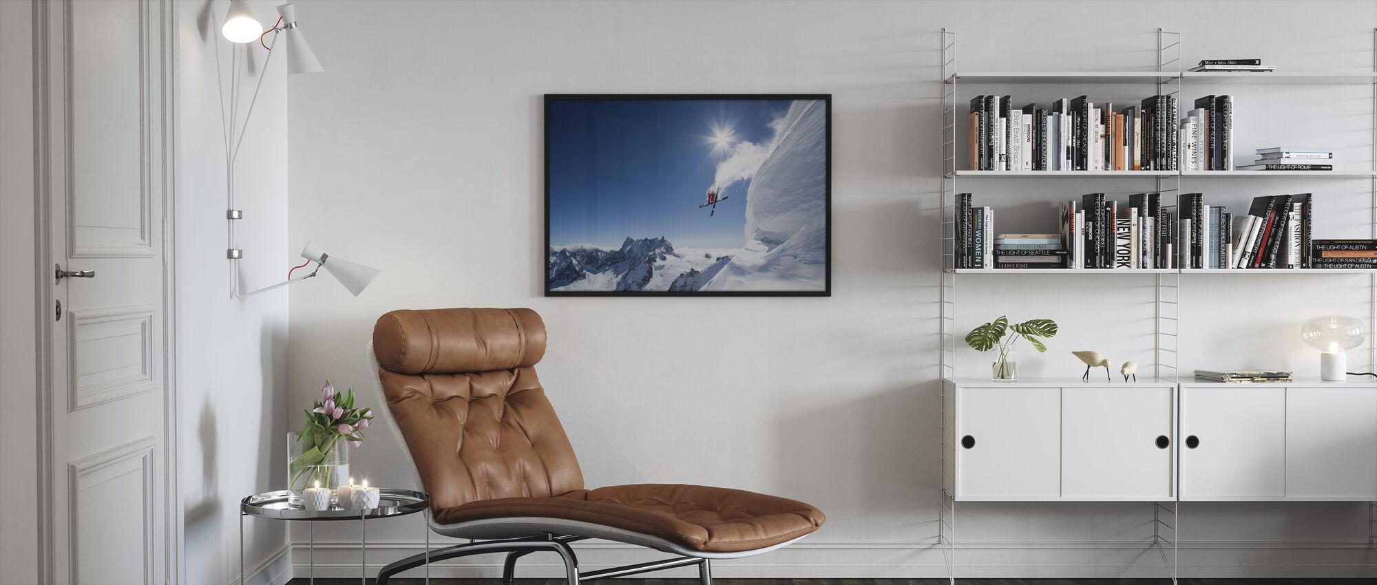 Extreme Skiing - Framed print - Living Room