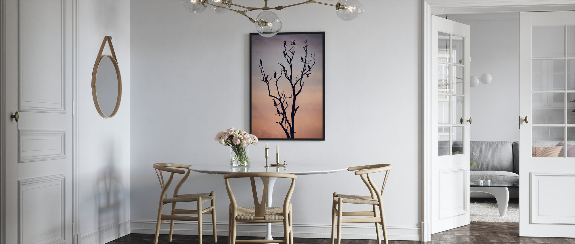 Birds Before Sunset - Framed print - Kitchen