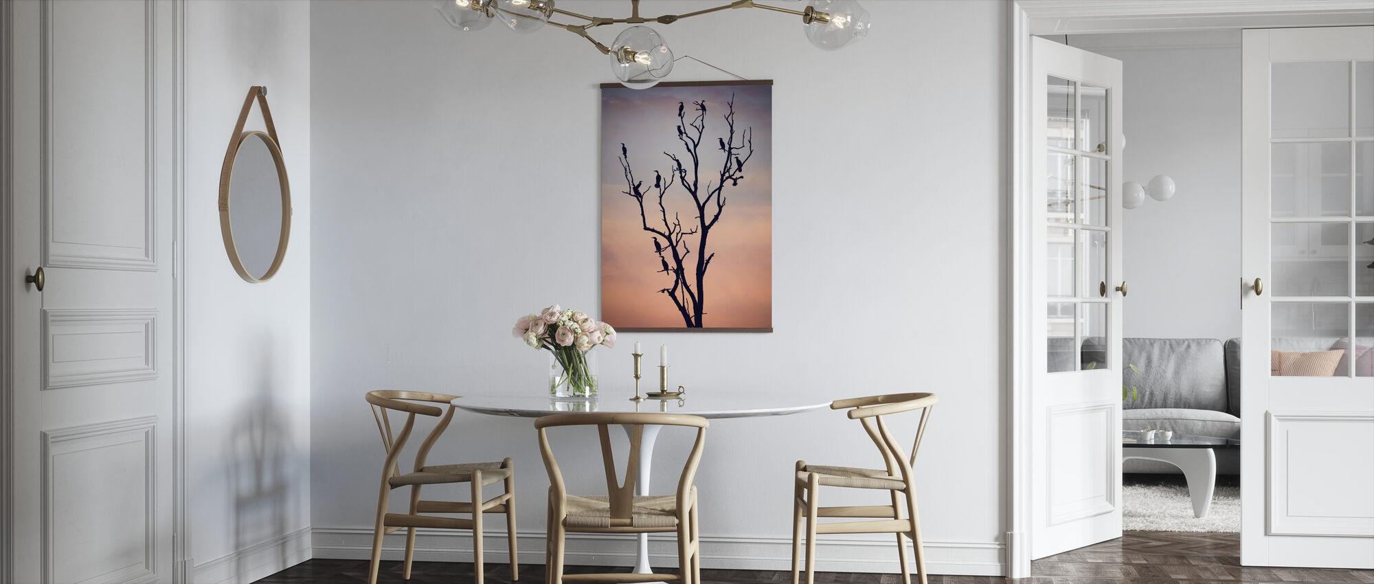 Birds Before Sunset - Poster - Kitchen