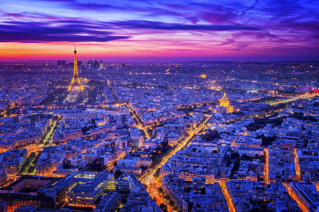 Paris By Night A Wall Mural For Every Room Photowall