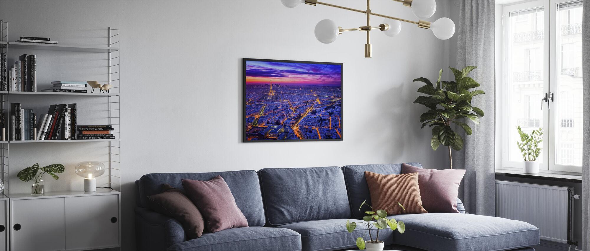 Paris By Night - Framed print - Living Room