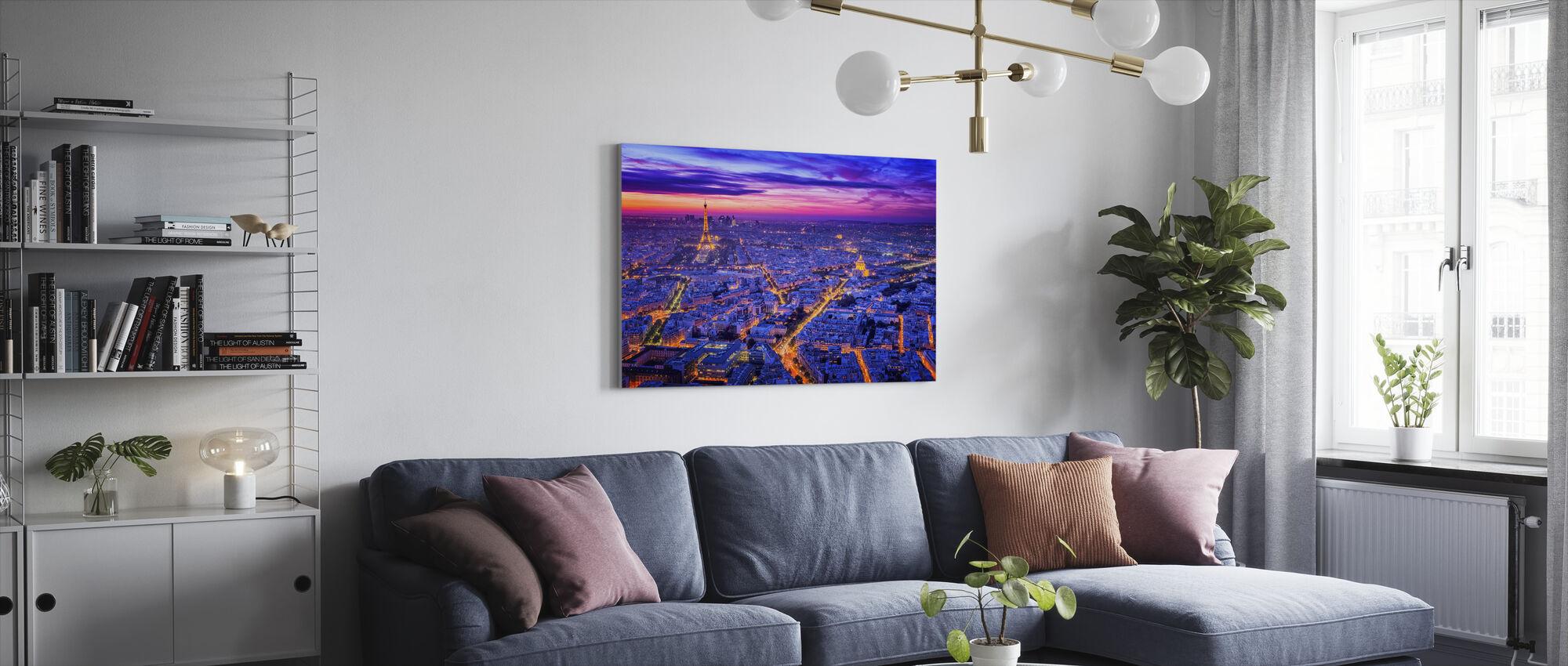Paris By Night - Canvas print - Living Room