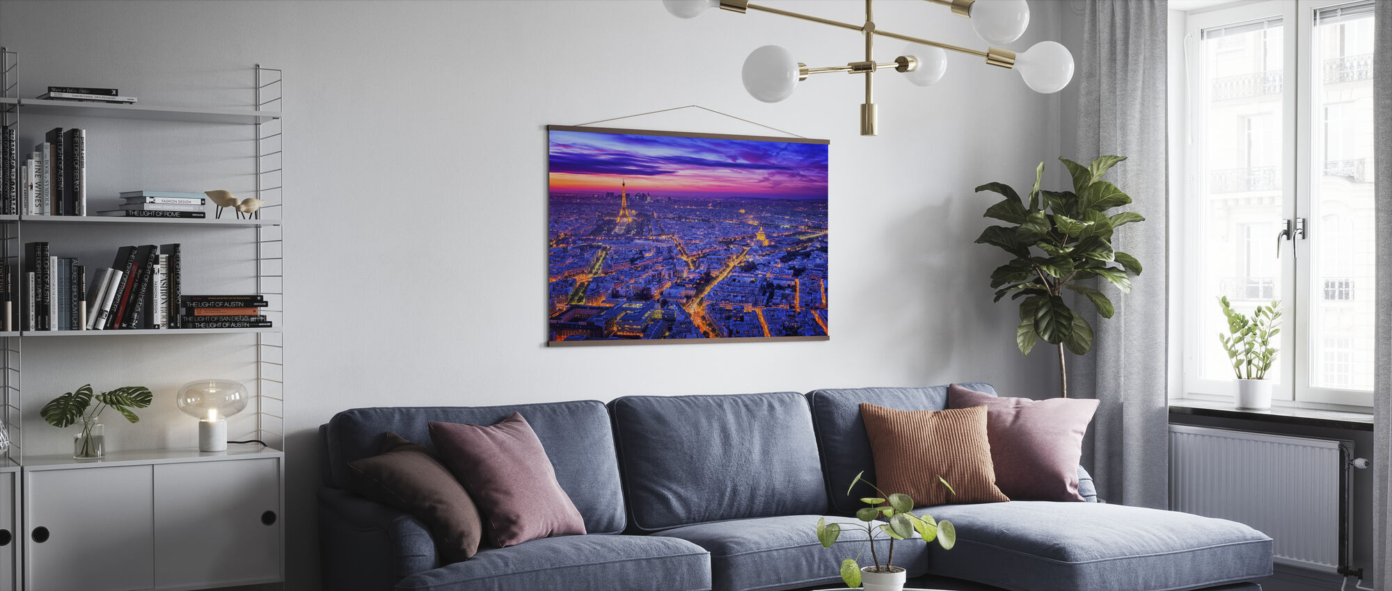 Paris By Night - Poster - Living Room