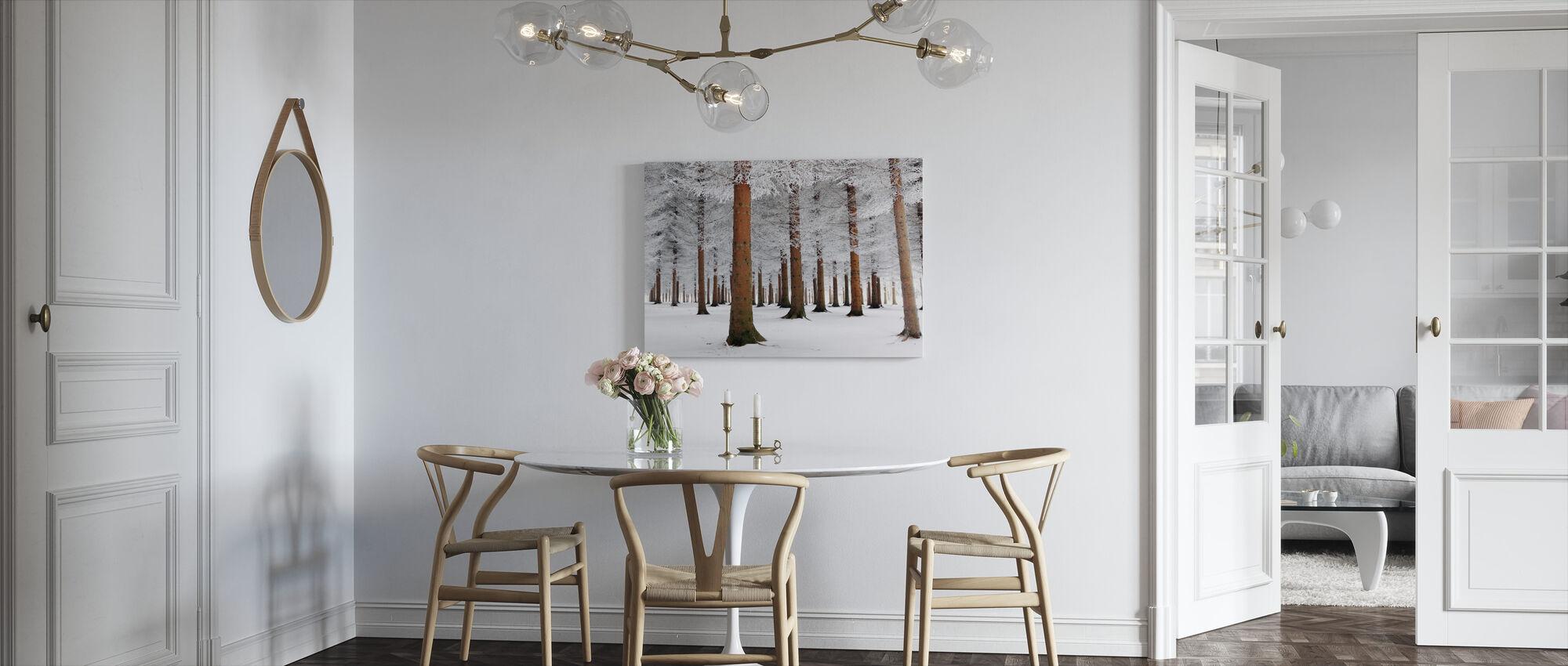 Valkoinen metsä - Canvastaulu - Keittiö