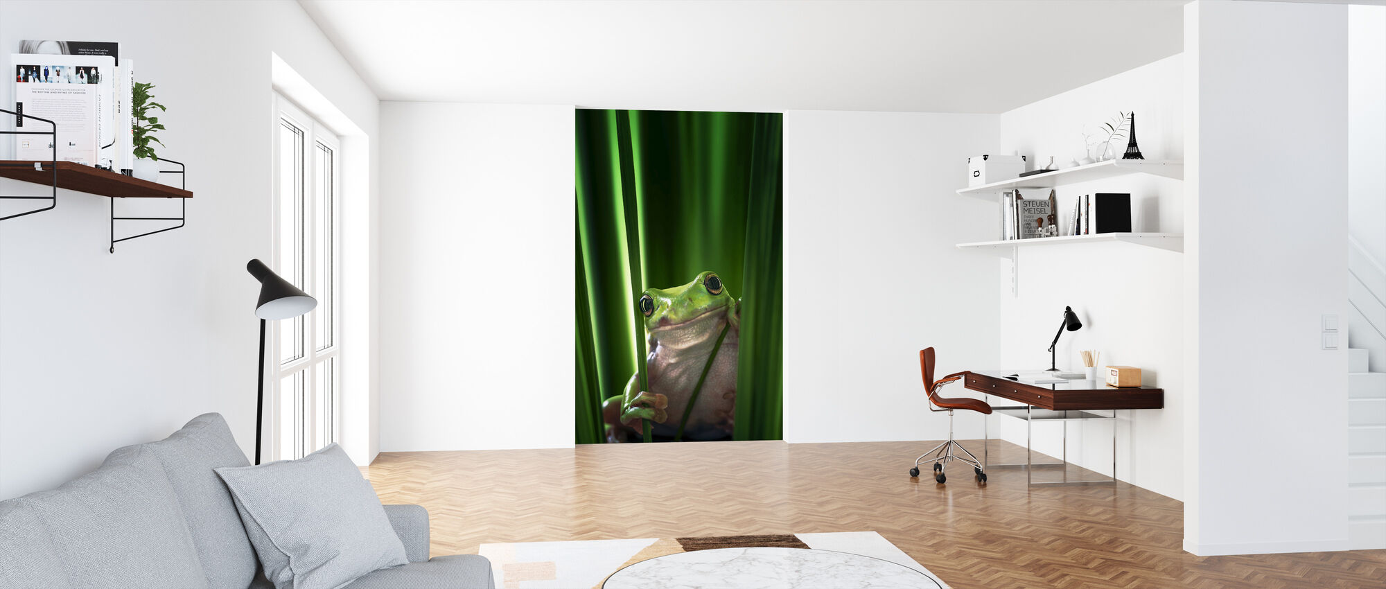 Green Frog - Wallpaper - Office