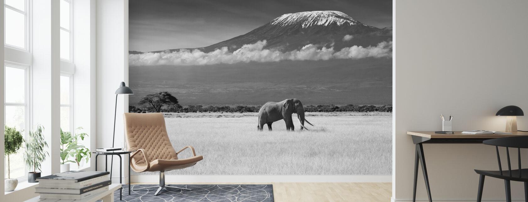 Elephant Landscape - Wallpaper - Living Room