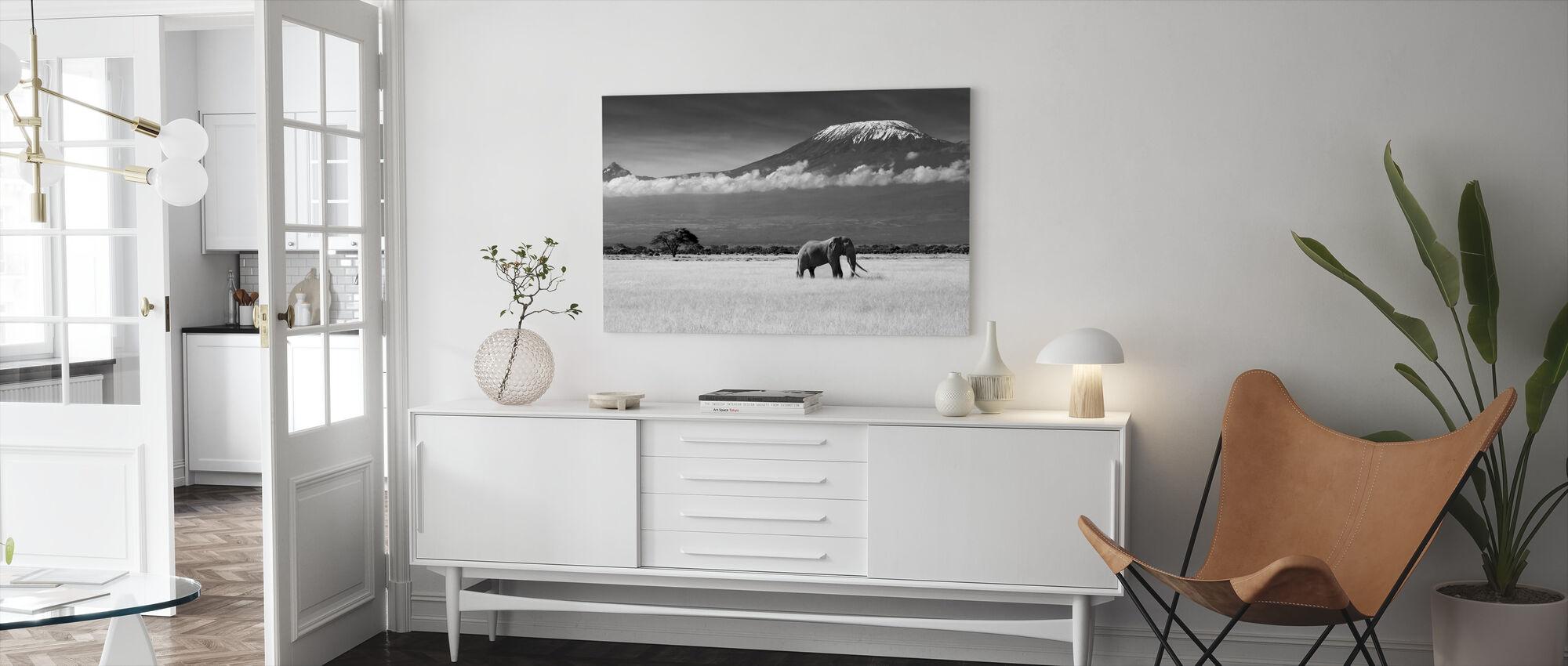 Olifantenlandschap - Canvas print - Woonkamer