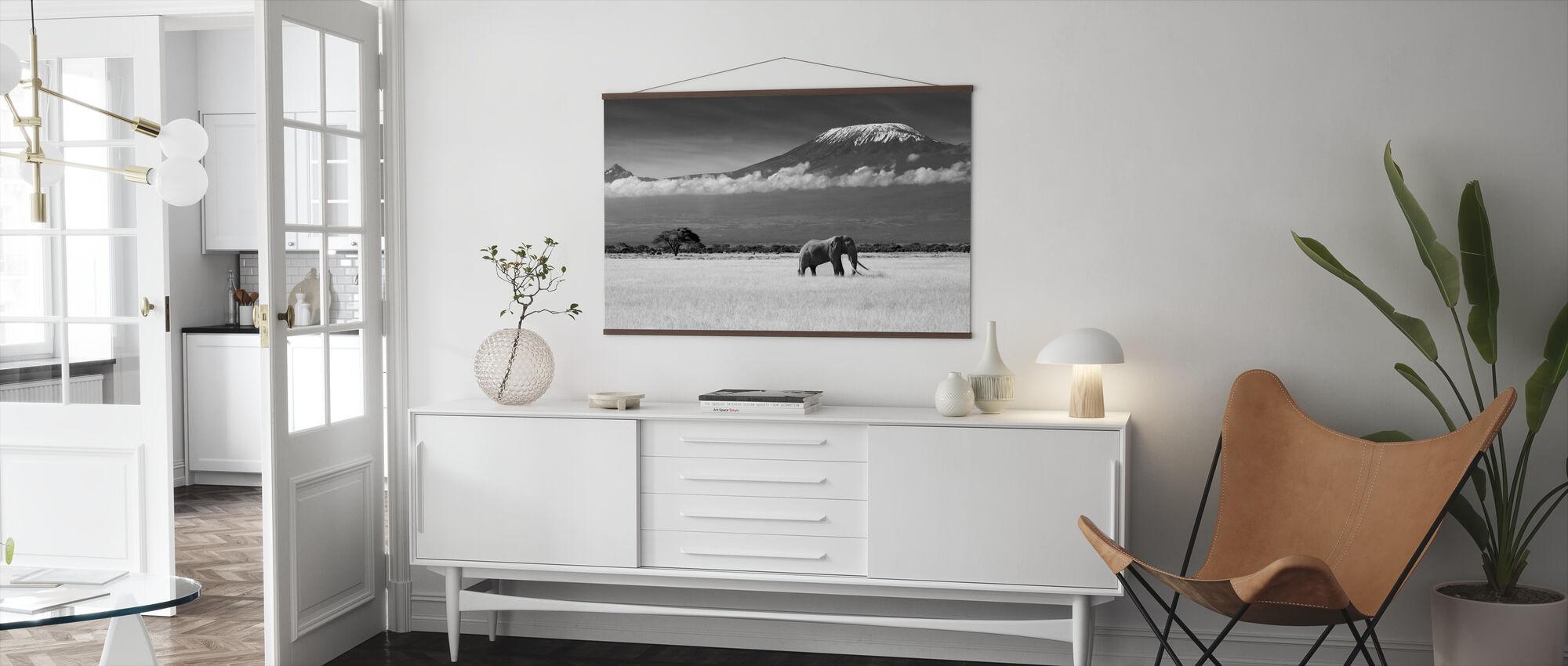 Elefant Landskap - Poster - Vardagsrum