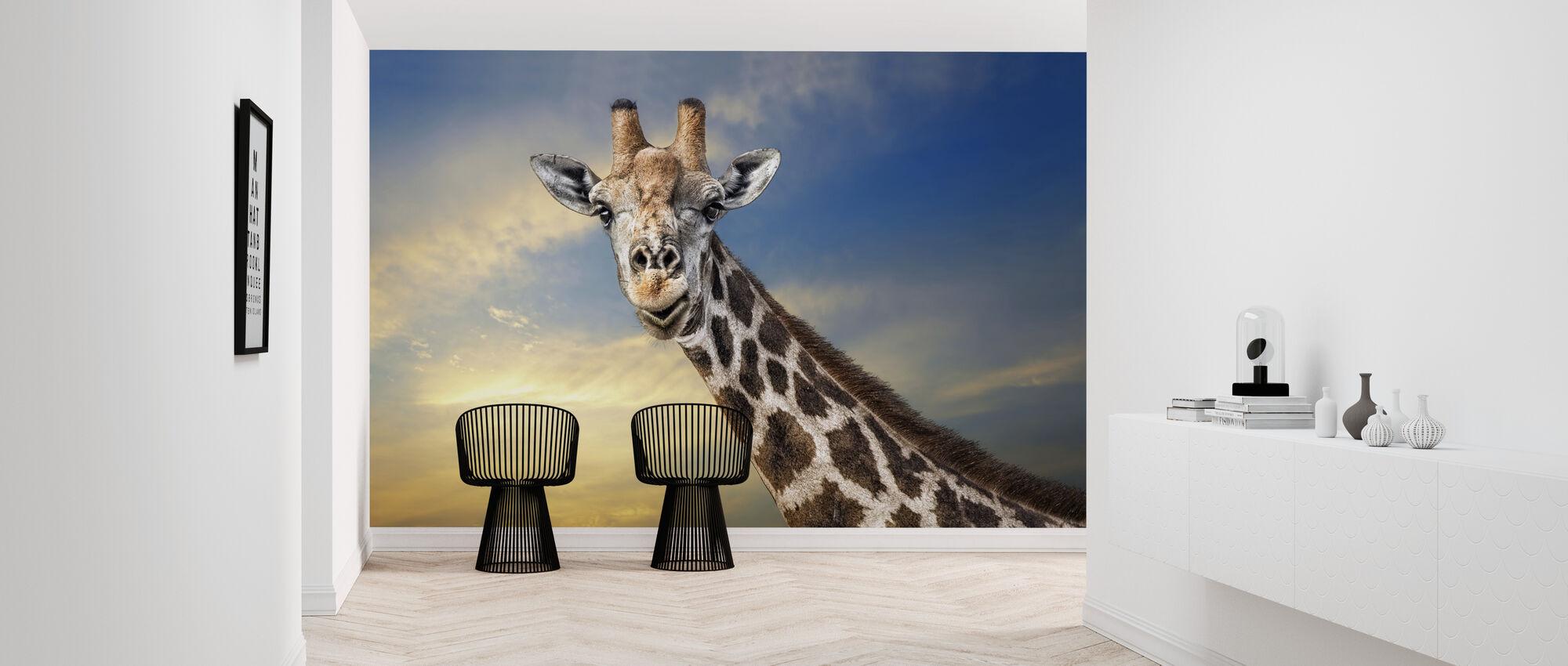 Vriendelijke Giraffe - Behang - Gang
