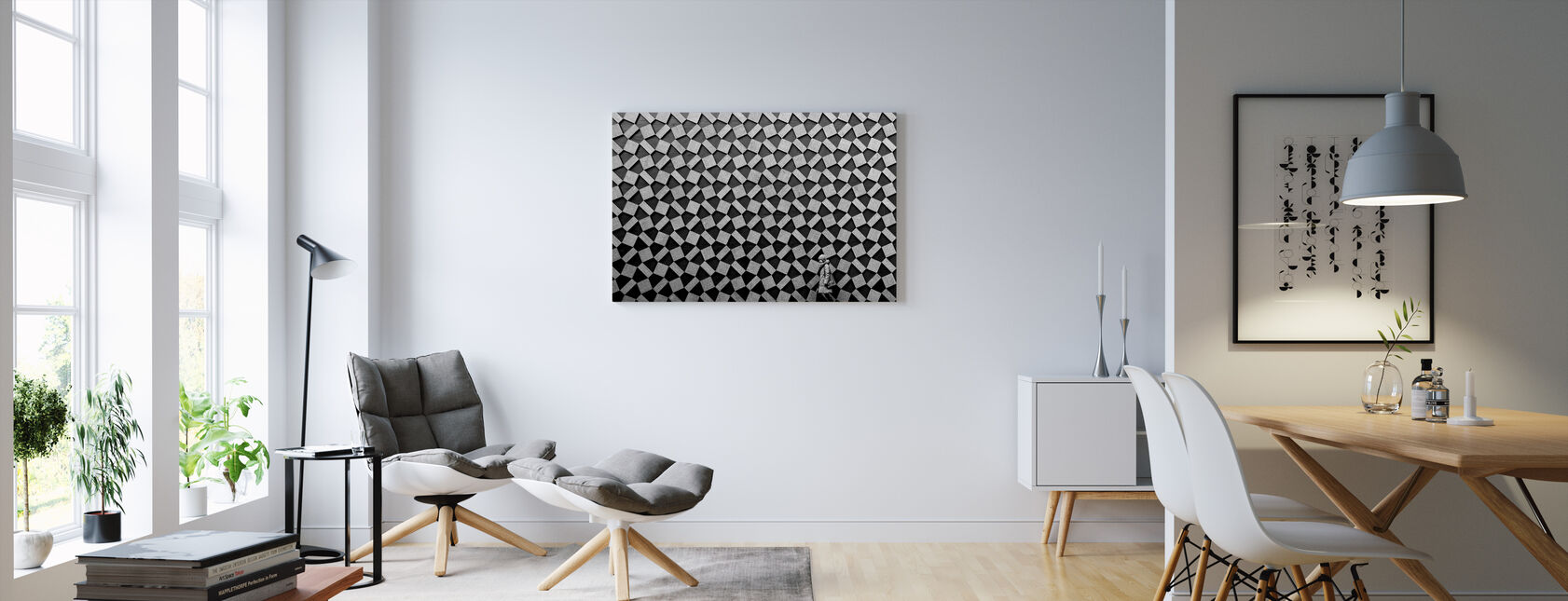 Grey Graphic - Canvas print - Living Room