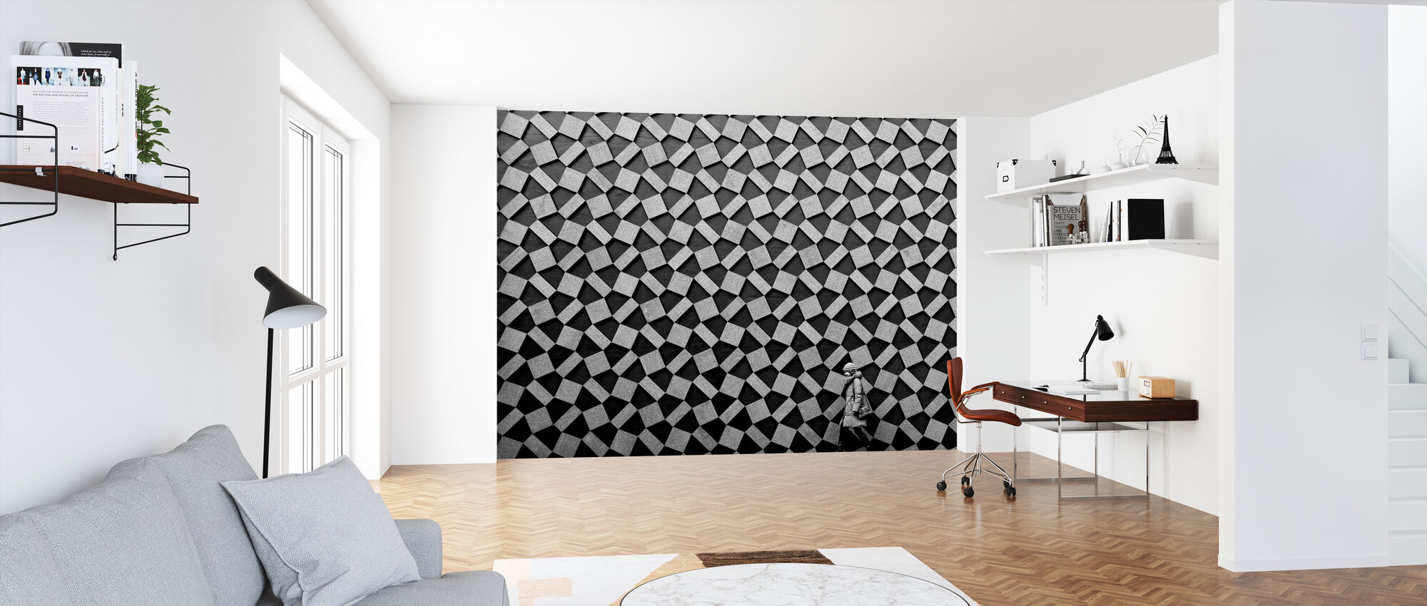 Grey Graphic - Wallpaper - Office