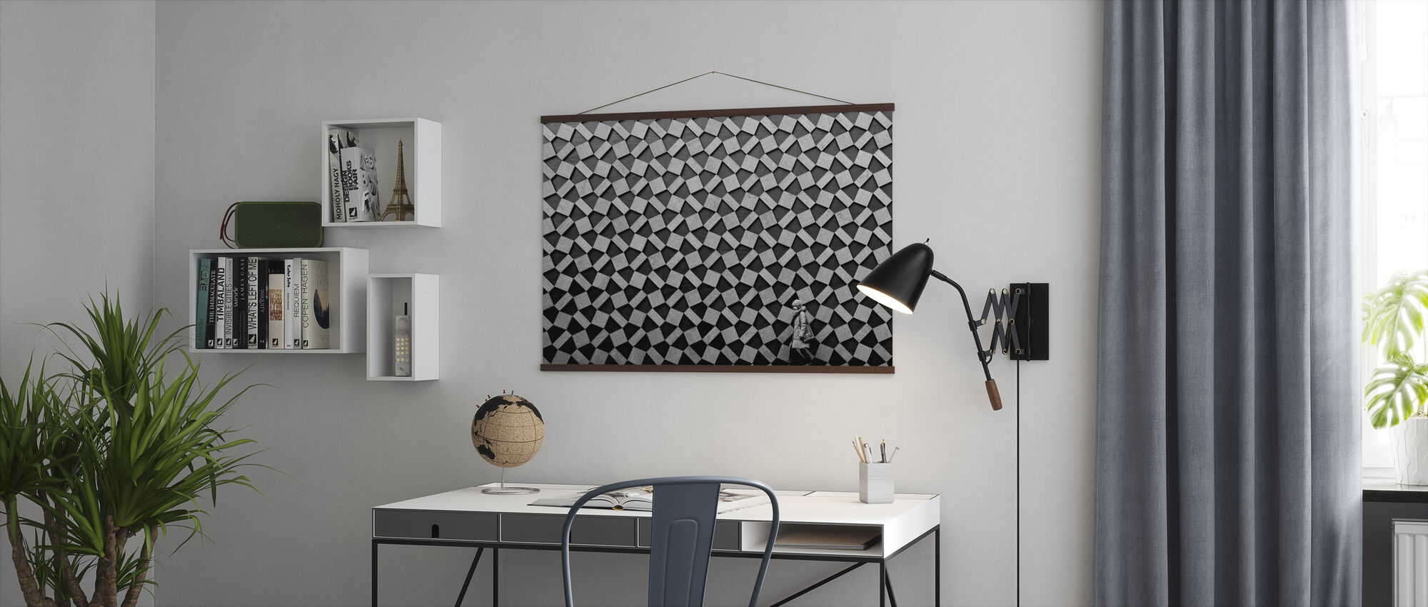 Grey Graphic - Poster - Office