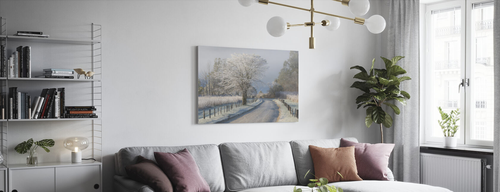Frosty Morning - Canvas print - Living Room