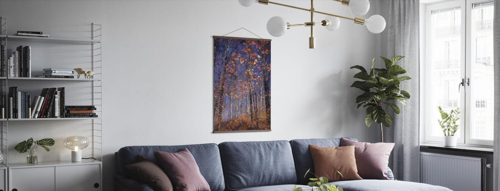 Golden Autumn Leaves - Poster - Living Room