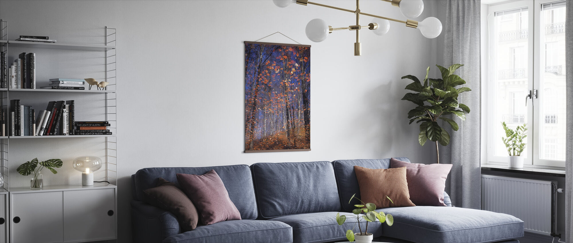 Golden Autumn Leaves - Poster - Living Room